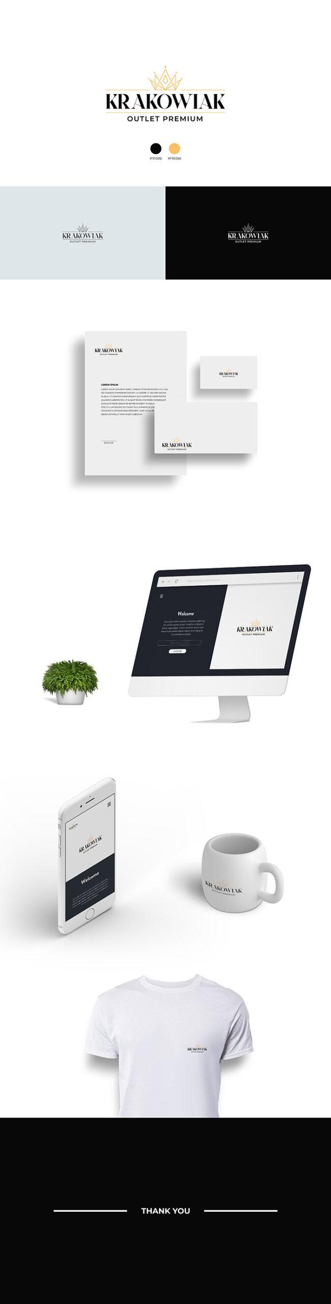 prezentacja logotypu krakowiak przykład